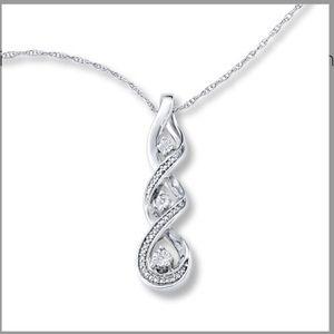 Kay Jewelers 🎁 3 stone infinity twist pendant 💎